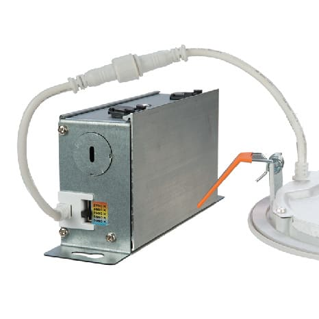 Choose from a range of five color temperatures 2700K-5000K by using the switch located on the driver junction box available on certain HLB downlights.