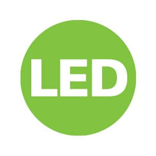 Eliminate the need to replace bulbs with long-lasting LED technology.