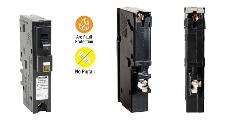 Get parallel and series arc protection with Square D Homeline CAFCI Plug-On Neutral breakers