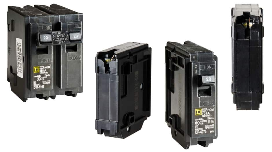 Square D Homeline standard breakers use thermal-magnetic breaker technology