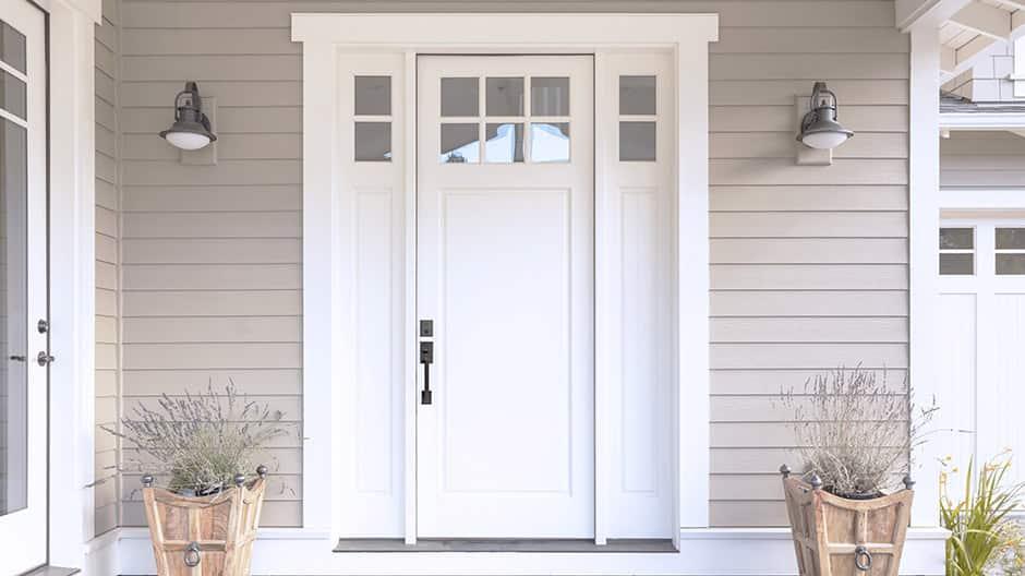 Exterior shot of door with SmartKey Security lock