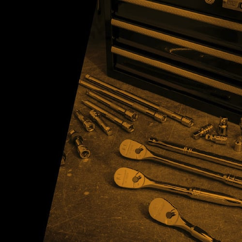 GEARWRENCH® Mechanic's Tools on Workbench