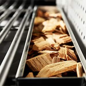 smoker box with woodchips