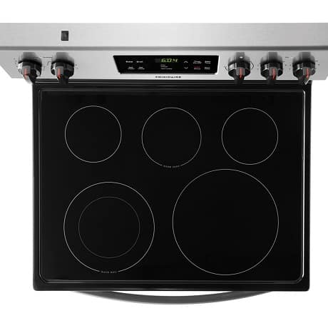 Top view of stove top
