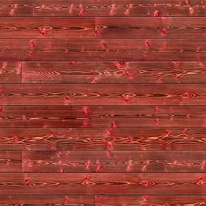 Swatch image of a red charred wood shiplap board