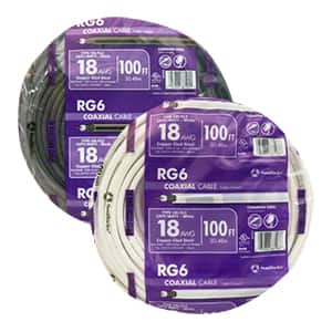 Southwire 18 RG6 Copper Clad Steel Coaxial Cable and Wire Assortment (Dual Shield and Quad Shield)