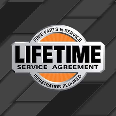 FREE PARTS. FREE SERVICE. FOR LIFE