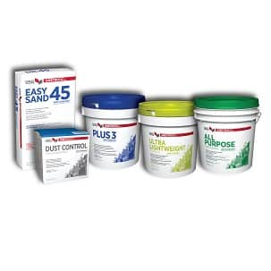 Photo of USG joint compound product line