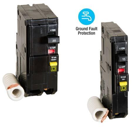 Choose between single-pole or 2-pole QO GFCI breakers