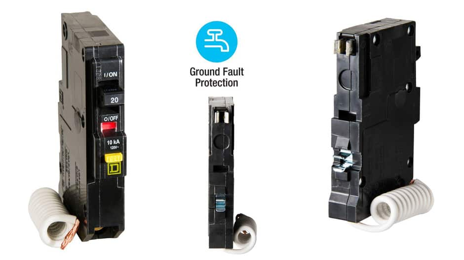 Get ground fault protection with Square D QO GFCI breakers