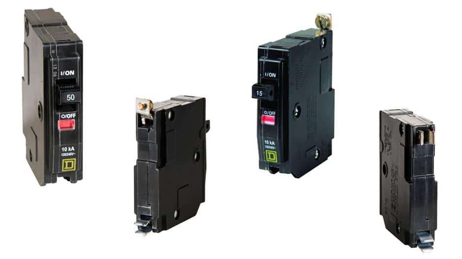 Square D QO standard breakers use thermal-magnetic breaker technology