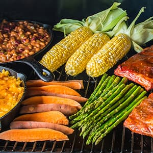Traeger Grills - Square Inches - Eastwood 34 with food