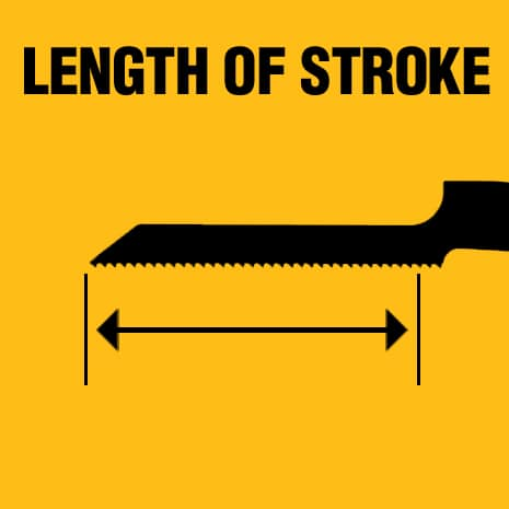 Up to 1-1/8 in. stroke length for fast and efficient cutting.