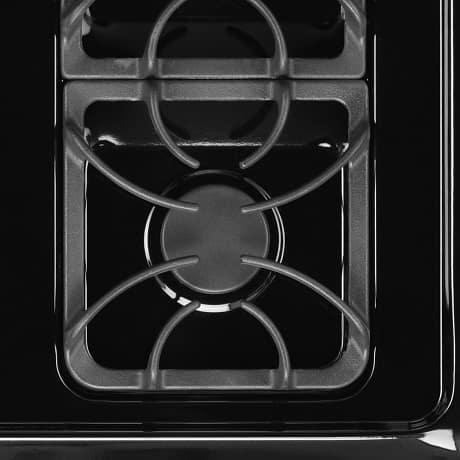 Close up view of individual gas burner