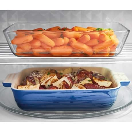 Two meals cooking in microwave