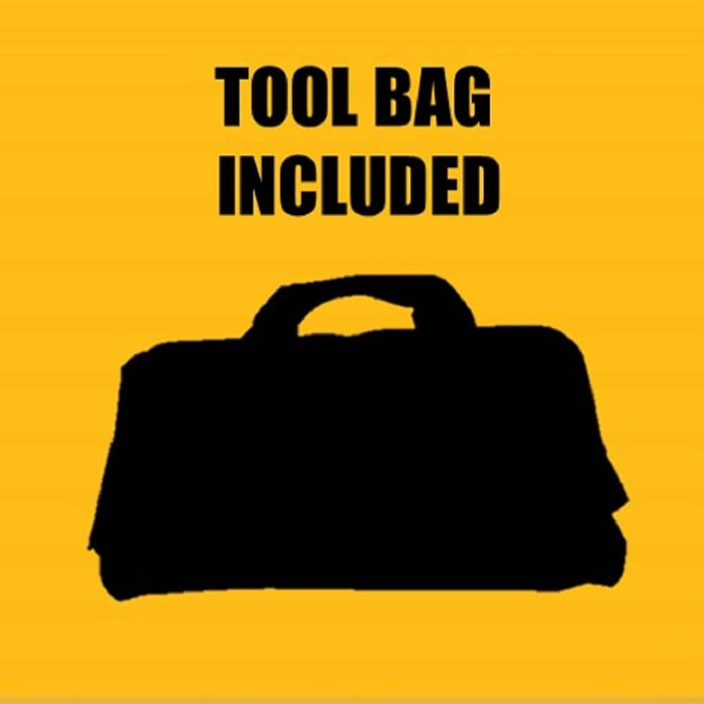 A contractor bag is included for portability.