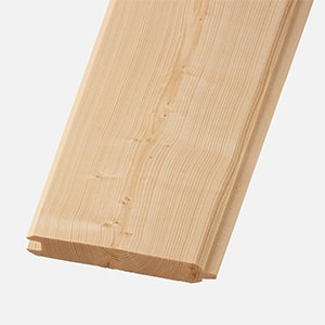 Swatch image of a unfinished tongue and groove shiplap board