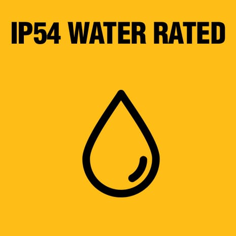 IP54 rated enclosures have a high level of protection against particles and a fair amount of protection against water.