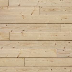 Swatch image of a natural/unfinished barnwood wood shiplap board