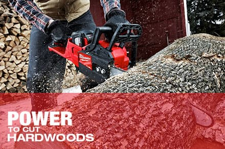 Power to cut hardwoods