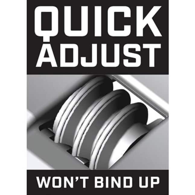 Quick Adjust Knurl Won't Bind Up