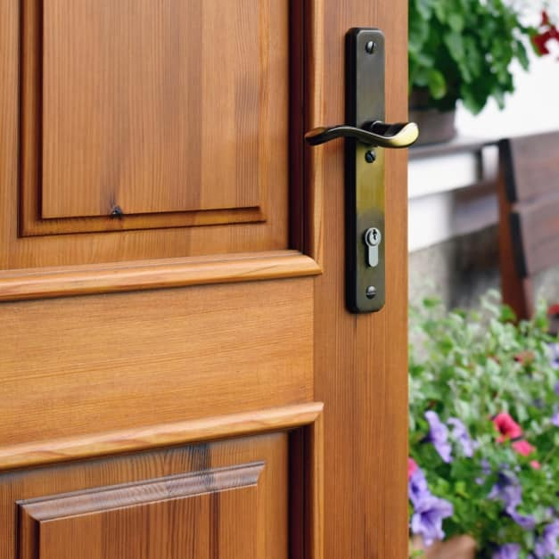 Mahogany Wood Door Stained