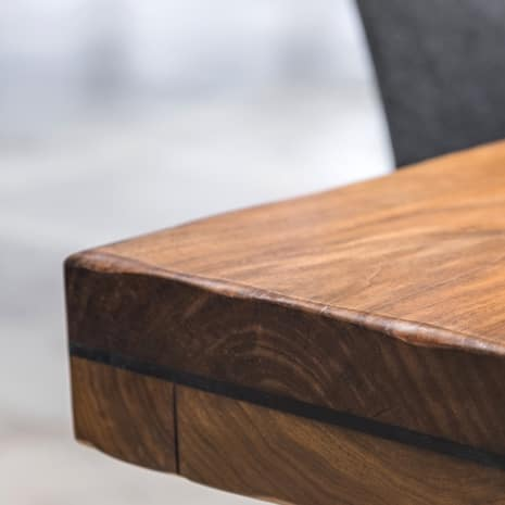 Wiping Stain Applied Smoothly To Wood Table