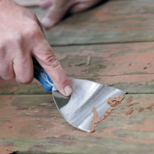Wood Deck Scraping Off Stain
