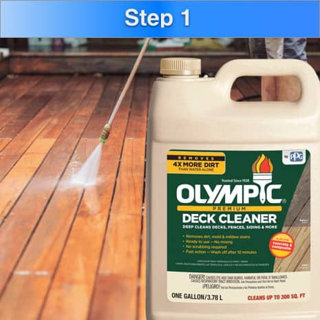 How To Waterproof Deck Step 1 Clean With Deck Cleaner