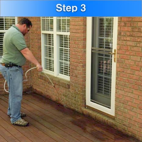 How To Waterproof Deck Step 3 Spray Liberally