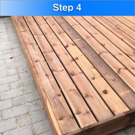 How To Waterproof Deck Step 4 Allow SmartGuard to dry 1 hour