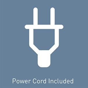 Pre-installed power cord included; cord removes easily for optional hardwiring