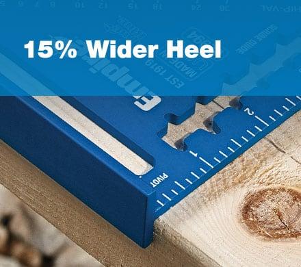 15% Wider Heel