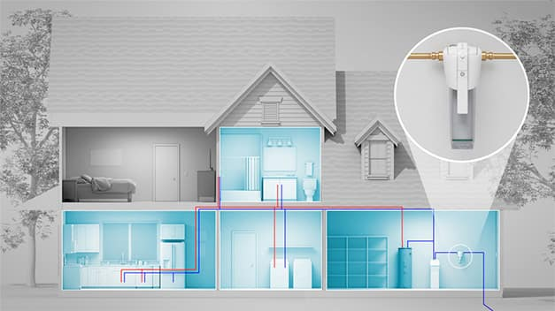 Home diagram showing protected zones and Whole Home System image
