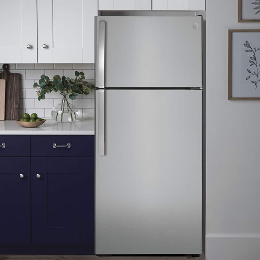 The appliance is ready to use, installed in a stylish kitchen