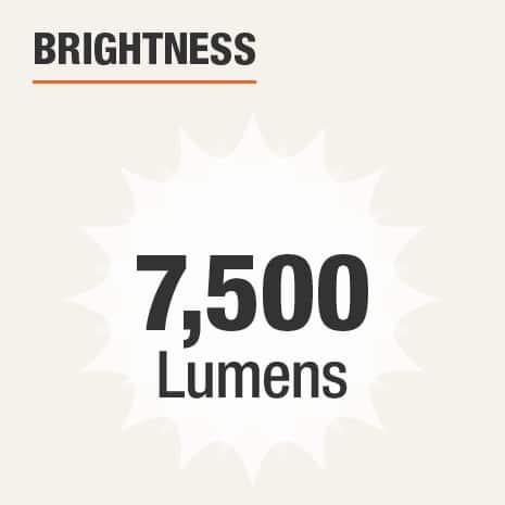Brightness is 7500 Lumens