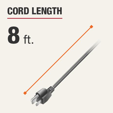 Cord Length is 8 feet