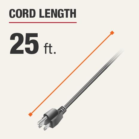 Cord Length is 25 feet
