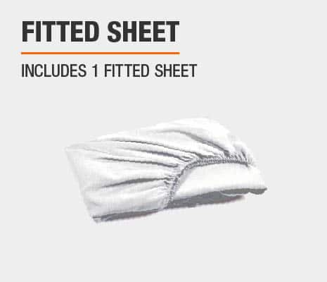 Set includes 1 fitted sheet