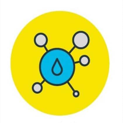 Chlorine Molecule Icon