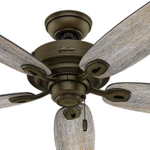 The Hunter Crown Canyon ceiling fan without lights.