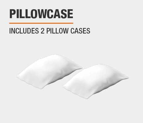 Sheet set includes 2 pillowcases