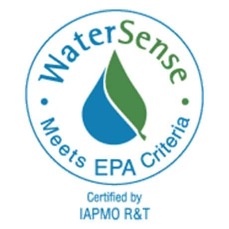 WaterSense compliant bathroom faucet.
