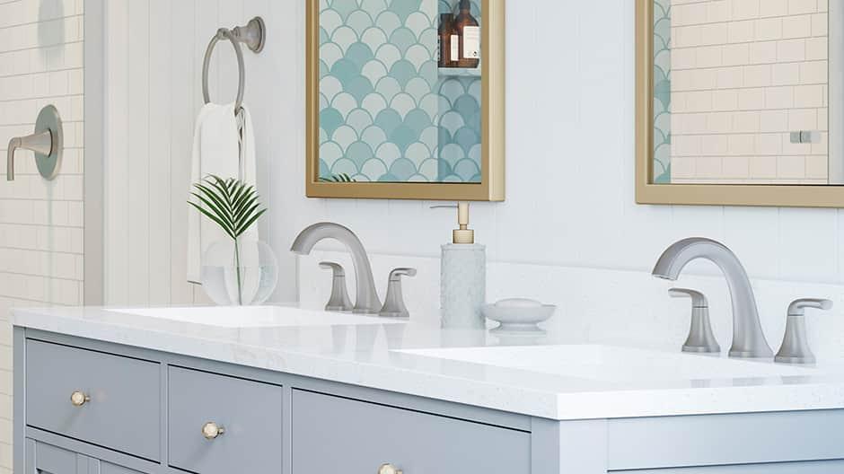 Pfister widespread bathroom sink faucet