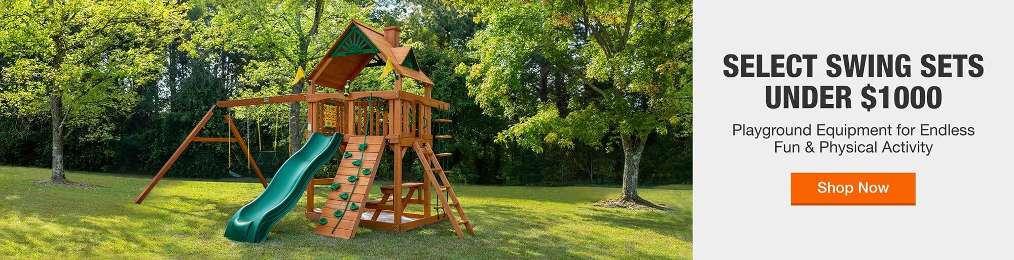 SELECT SWING SETS UNDER $1000 - Playground Equipment For Endless Fun & Physical Activity > SHOP NOW