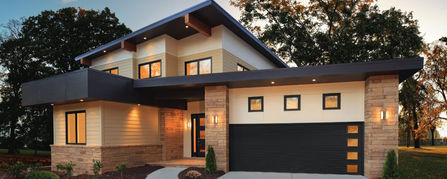 modern home trends - beige, stone and black home