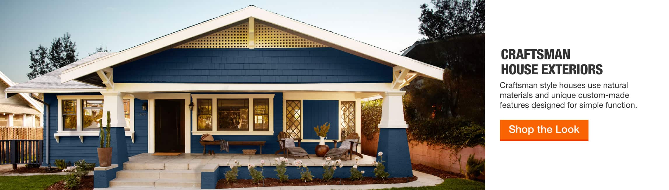 Craftsman House Exteriors - Craftsman style houses use natural materials and unique custom-made features designed for simple function. > Shop the Look