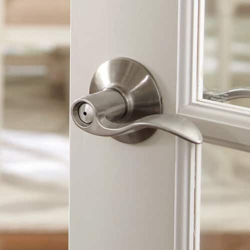 door lever on french door
