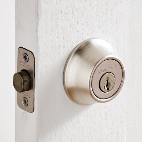 door lock with extended shaft