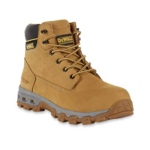 wheat colored construction boot